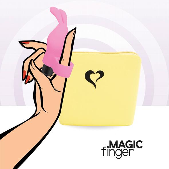MAGIC FINGER VIBRATOR ROZE - FEELZTOYS