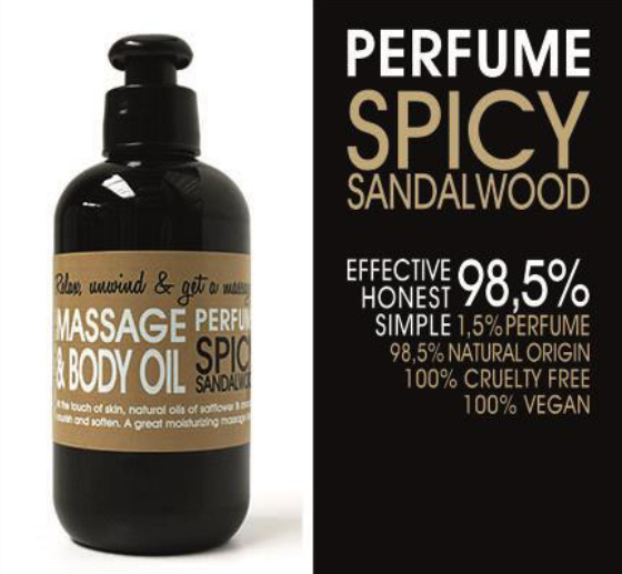 MASSAGE EN BODY OLIE - SPICY SANDALWOOD 200 ml