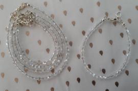 Witte glaskralen diamant