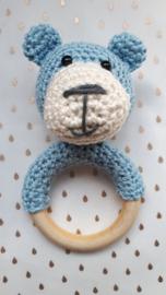 Rammel/bijtring beer, licht blauw