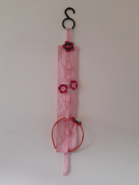 Voor clips en diadeem, roze ruit