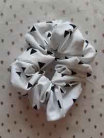 Scrunchie, wit/zwart