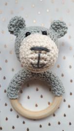 Rammel/bijtring beer, licht grijs