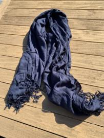 pashmina donkerblauw