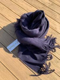 sjaal vilt donkerblauw