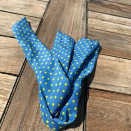 haarband recht polka dot fluo yellow