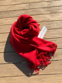 sjaal vilt rood