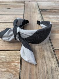 diadeem grijstinten strik