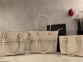 900732 set 3 handtassen PU - apart te koop! kleinste verkocht!