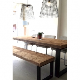 Eettafel Timber (6 balken breed)