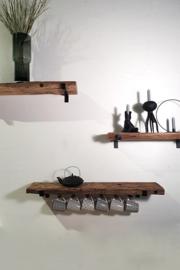 Wandplank Ruig (met stalen VET dragers)