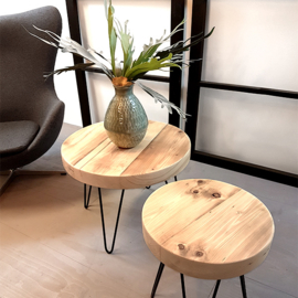 Ronde salontafel Lumber