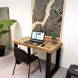 Smalle tafel / bureau Timber (60 cm breed)