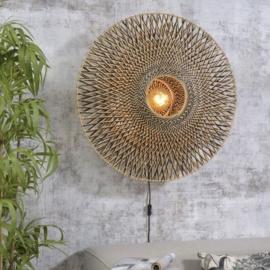 Wall lamp Bali dia.87x20cm black/natural, L
