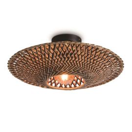 Ceiling lamp Bali dia.44x12cm black/natural, S