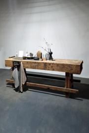 Oude meubelmakers werkbank