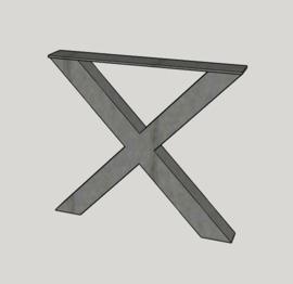 Stalen X-frames (10x10 cm) set van 2 stuks