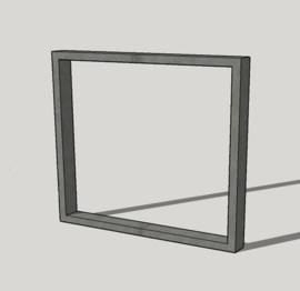 Stalen vierkant frame (7x3 cm) set van 2 stuks