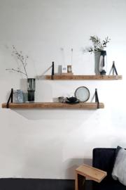 Wandplank Timber (met stalen dragers)
