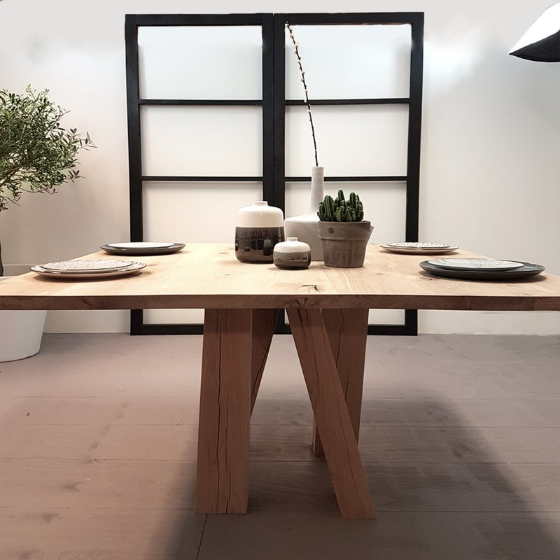 Design Vierkante Eettafel.Vierkante Eettafel Pol Afmeting Vierkante Tafel 140 L X