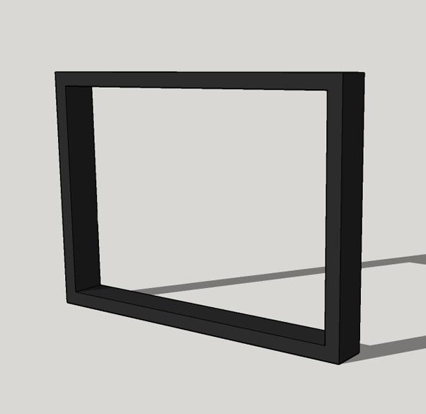 Stalen vierkant frame (10x4 cm) set van 2 stuks