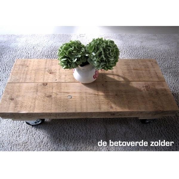 Smalle Salon Tafel.Lange Smalle Salontafel Oude Balken Oude Balken