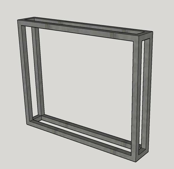 Stalen Brut-frames (14x3x3 cm) set van 2 stuks