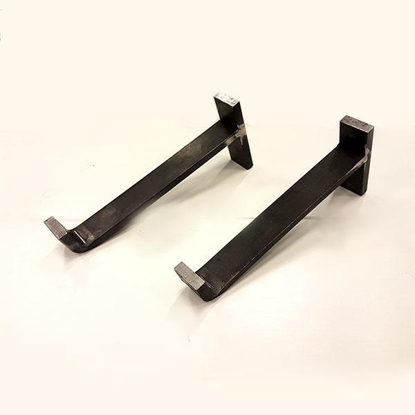 Stalen plankdragers VET (zonder plank) als set van 2 stuks