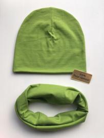 Set beanie en sjaal 'Green'