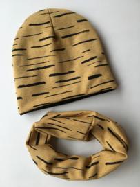Set beanie en sjaal 'Tijger'