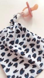 Speendoekje 'Blue lovepard'