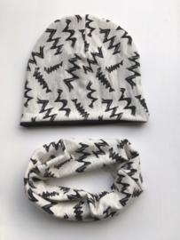 Set beanie en sjaal 'Zigzag'
