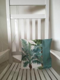 Kussen 'Palmen kleur streep groen'