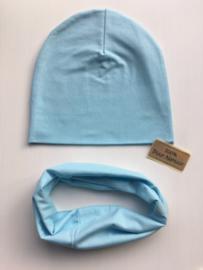 Set beanie en sjaal 'Blue'