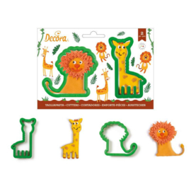 Lion/Giraffe cutter set 2 pcs