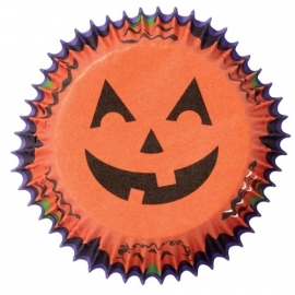 Halloween cups smiling pumpkin