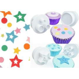 Cake Star Push Easy shapes  set 6 st