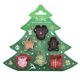 Christmas mini uitstekers set 6 st