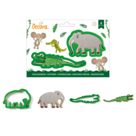 Elephant/Crocodile cutter set 2 pcs