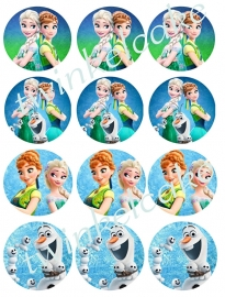 Frozen Edible print cupcake Fever