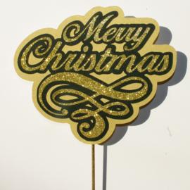 Glitter goud Merry Christmas