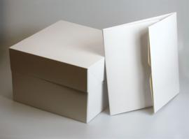 Hoge Taartdoos rechthoekig 35 x 45 x 15 cm per 10 stuks