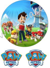 taartprint paw patrol 4