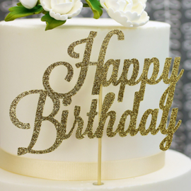 Paillettes or Happy Birthday cake topper
