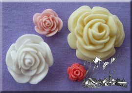 Roses 4 in 1  (Alphabet Moulds)