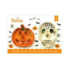 Skull &  pumpkin uitsteker set 2 st