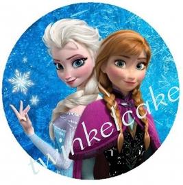 Taartprint Elsa en Anna 3