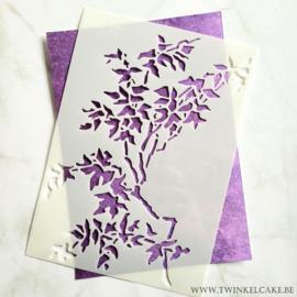Stencil tak met bladeren