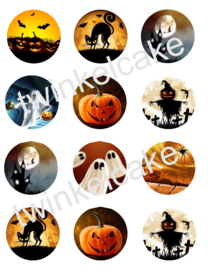 Eetbare print halloweencupcakes