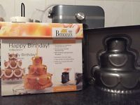 Happy Birthday 3D bakvorm (stapeltaart)